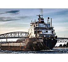 Freighter comming Photographic Print