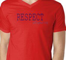 Respect Refugees Mens V-Neck T-Shirt