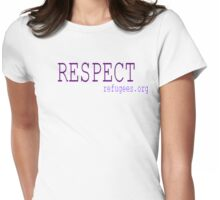Respect Refugees Purple Womens Fitted T-Shirt