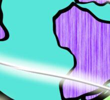Neon Laser Globe Sticker