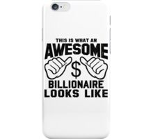 This is What an Awesome Billionaire Looks Like Retro iPhone Case/Skin
