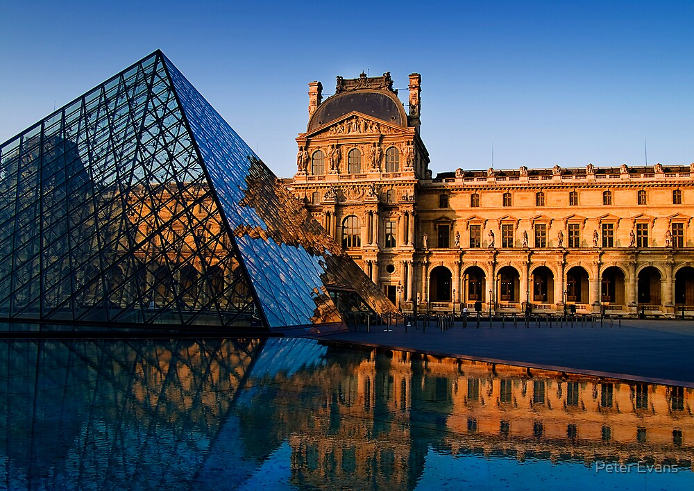 The Louvre at the Golden Hour by Peter Evans