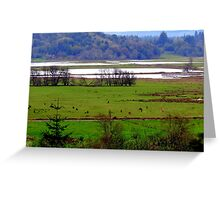 How Green Is My Valley...Coquille, Oregon Greeting Card