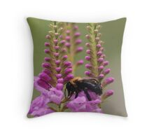 Dragonflower Throw Pillow