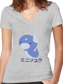 Dratini Kawaii Women's Fitted V-Neck T-Shirt