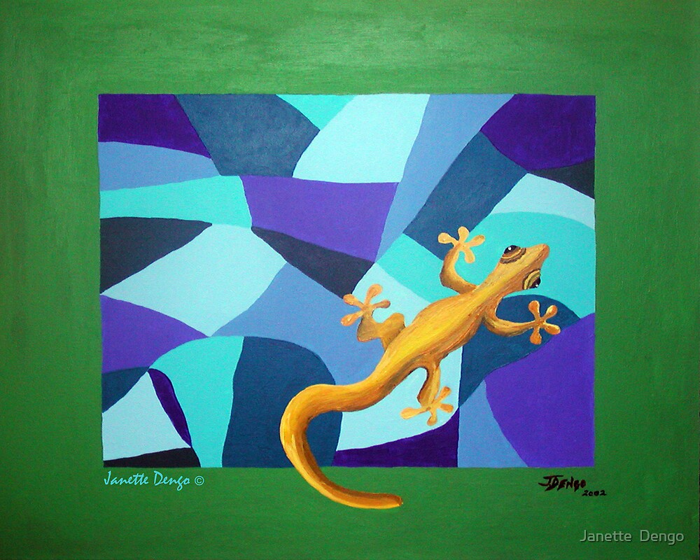 YELLOW LIZARD by Janette  Dengo