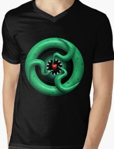 Cthulhu Heart Mens V-Neck T-Shirt