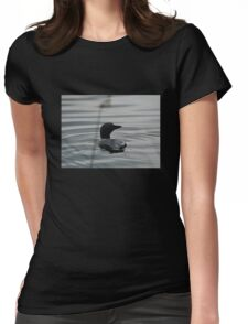 Canadian Loon Silhouette Womens Fitted T-Shirt