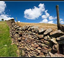 Dry stone wall by Shaun Whiteman