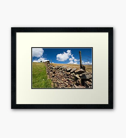 Dry stone wall Framed Print