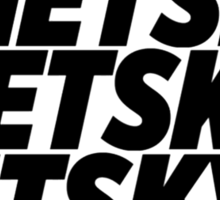 3 Netsky shirt Sticker