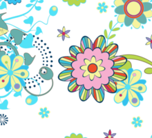 Colorful Abstract Floral Seamless Pattern Sticker