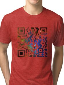 QR Code Galaxy Eagle Tri-blend T-Shirt