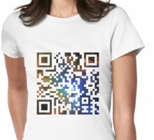 QR Code Galaxy Eagle Womens Fitted T-Shirt