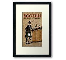 Scotsman's Scotch Framed Print