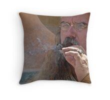 Smokin' Mt Man Throw Pillow