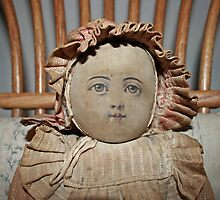...face of old doll... by Lynne Prestebak