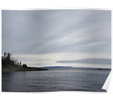 Grey Day on Lake Superior Poster