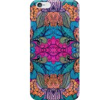 Colorful Abstract Floral Collage Seamless Pattern iPhone Case/Skin