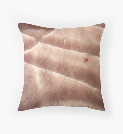 hairy scale skin Throw Pillow