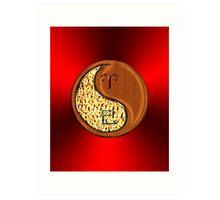 Aries & Snake Yin Wood Art Print
