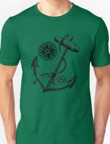 Vintage Nautical Anchor Design Unisex T-Shirt