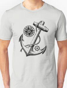 Vintage Nautical Anchor Design T-Shirt