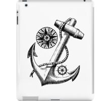 Vintage Nautical Anchor Design iPad Case/Skin