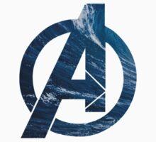 Avengers logo ~ ocean waves by quinc3y