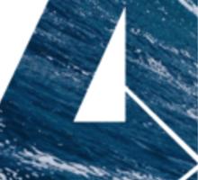Avengers logo ~ ocean waves Sticker