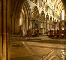 Inside Wells Cathedral by Alan Watt