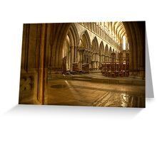 Inside Wells Cathedral Greeting Card