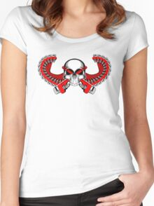 Plumber Skull with Wings Women's Fitted Scoop T-Shirt