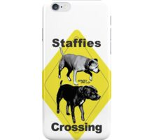Staffies Crossing Sign iPhone Case/Skin
