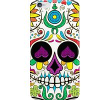 Colorful Floral Sugar Skull 3 iPhone Case/Skin
