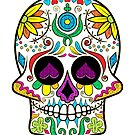 Colorful Floral Sugar Skull 3 by artonwear