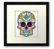 Colorful Floral Sugar Skull 3 Framed Print