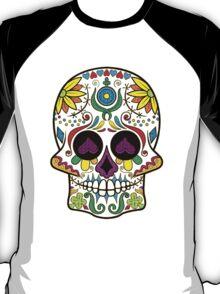 Colorful Floral Sugar Skull 3 T-Shirt