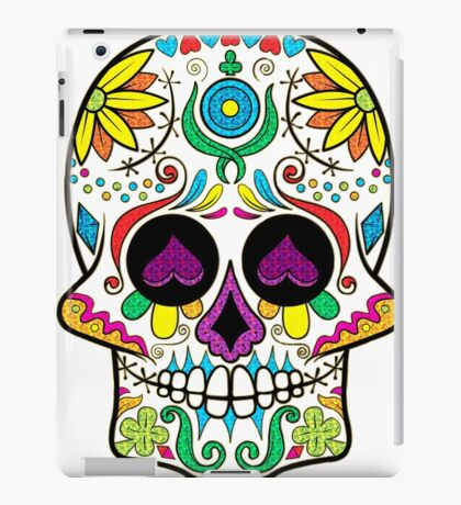 Colorful Floral Sugar Skull 3 iPad Case/Skin