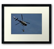 Eurocopter with towed array Framed Print