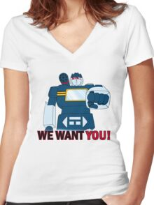 Transformers - We Want You - Decepticons Women's Fitted V-Neck T-Shirt