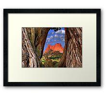 Garden of the Gods / Morning Parallel's Framed Print