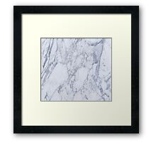 White And Gray Marble Stone Pattern Framed Print