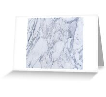 White And Gray Marble Stone Pattern Greeting Card