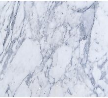 White And Gray Marble Stone Pattern Photographic Print