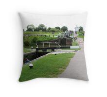 Foxton Locks, Leicestershire (5140) Throw Pillow