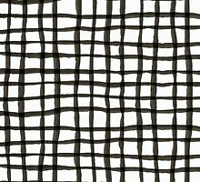Painted Grid Print | White by weirdoodle