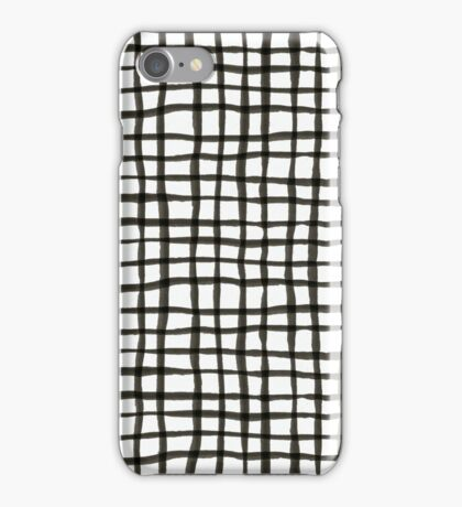 Painted Grid Print | White iPhone Case/Skin