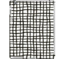 Painted Grid Print | White iPad Case/Skin