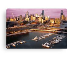 Sunset, Melbourne Docklands Canvas Print